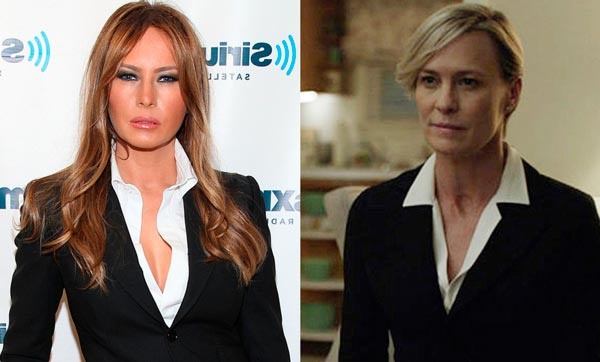 Робин Райт (Robin Wright) в роли Клэр Андервуд (Claire Underwood) // Мелания Трамп (Melania Trump)