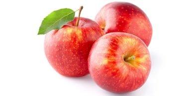 фото трёх красных яблок