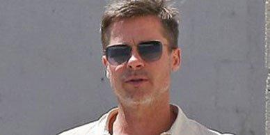 похудевший Brad Pitt