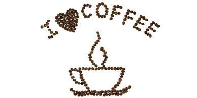 картинка на белом фоне я люблю кофе