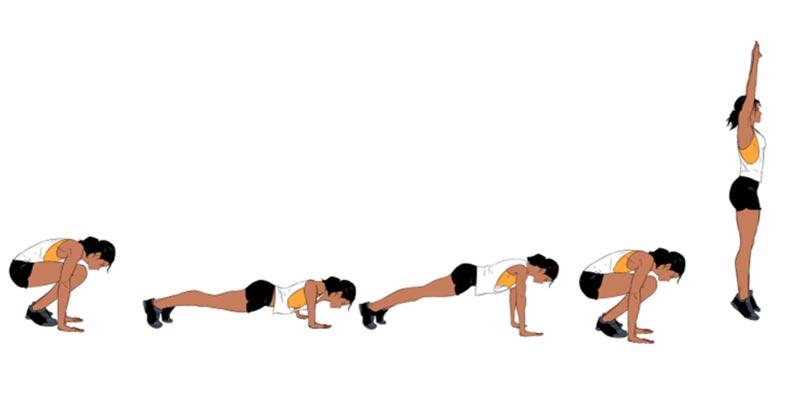 техника выполнения упражнения бёрпи