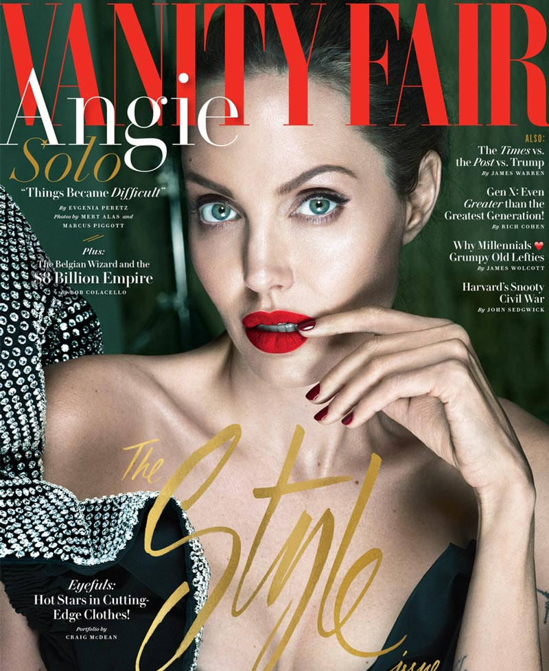 Джоли на обложке vanity fair
