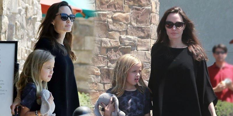 Джоли в мешковатой одежде