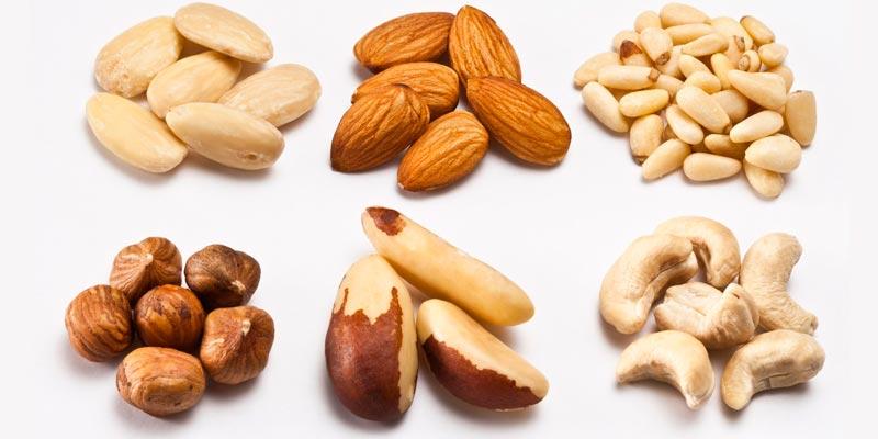 разные виды орешков из статьи об аллергии на арахис