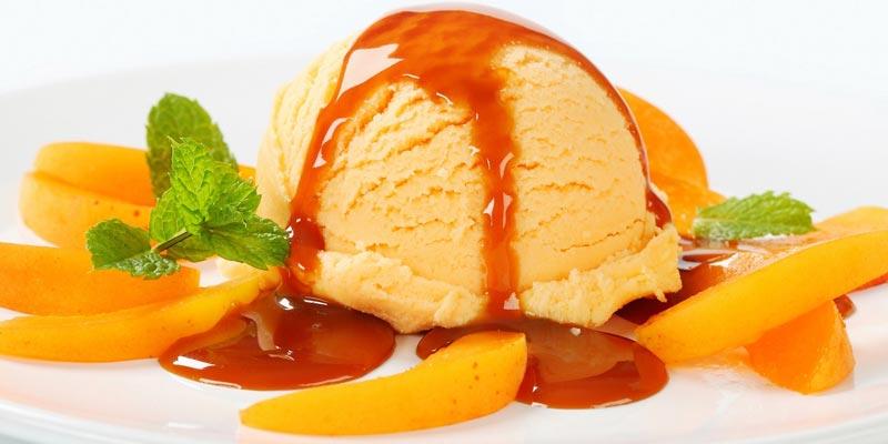 мороженное с сахарным сиропом