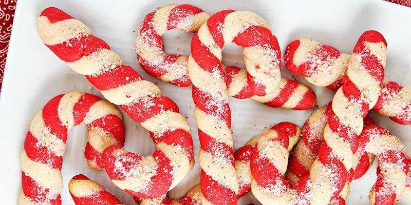 Новогодние печеньки «Карамельная трость»