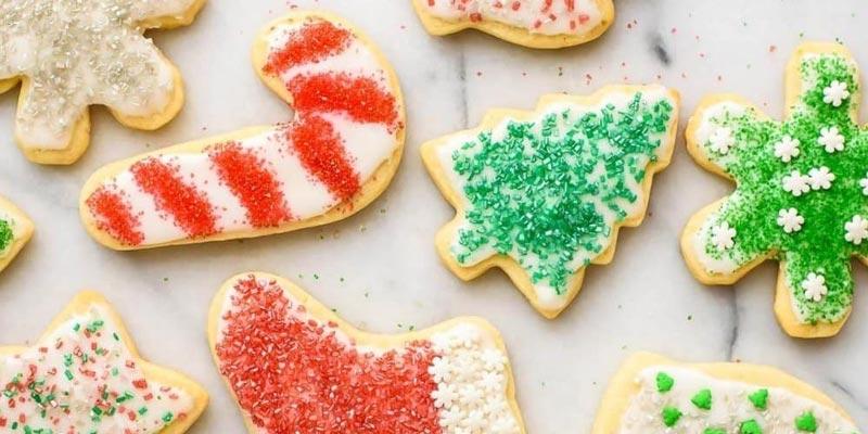 Новогоднее сахарное печенье со сливочным сыром