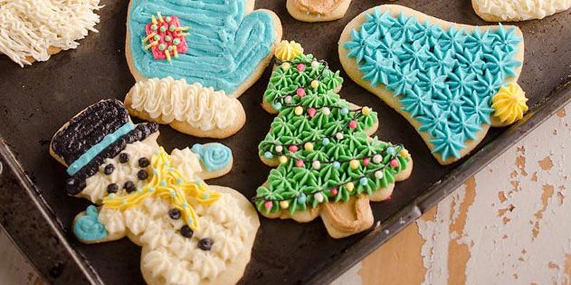 Новогоднее сахарное печенье со сметаной