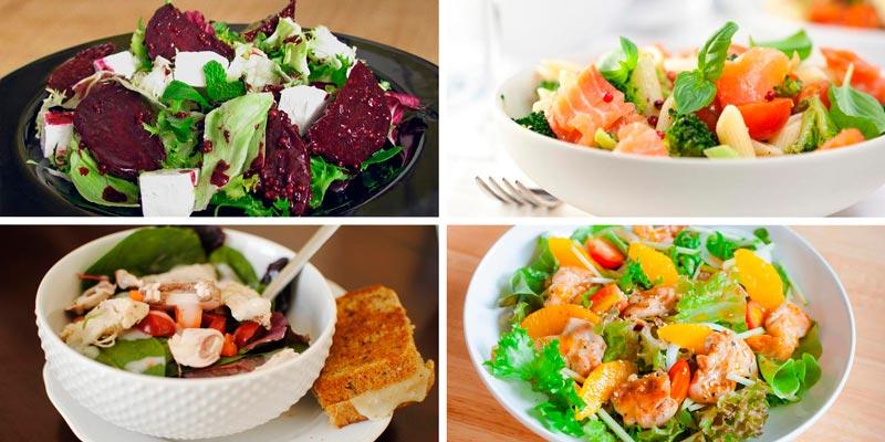8 рецептов вкусных, но диетических салатов