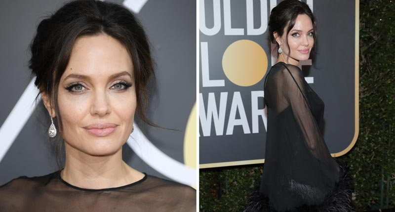 Анджелина Джоли на Золотом глобусе 2018