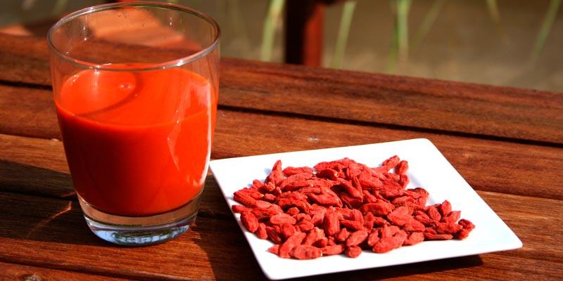 сок из ягод годжи
