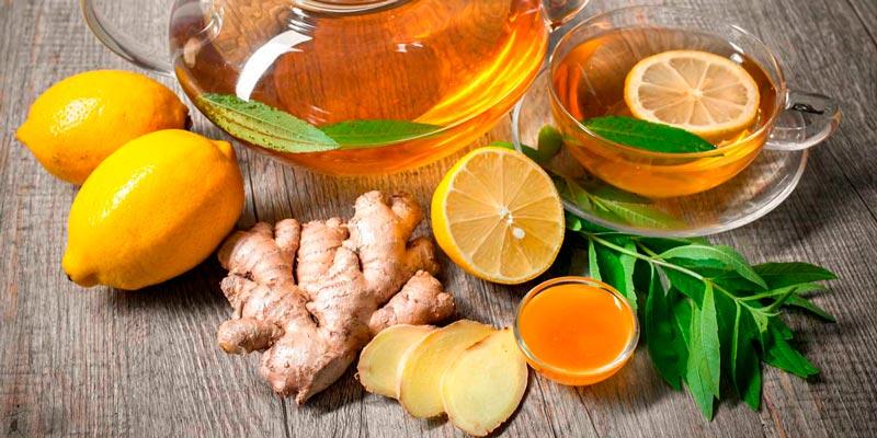 Рецепт коктейля для похудения с мятой, имбирём, мёдом и лимоном
