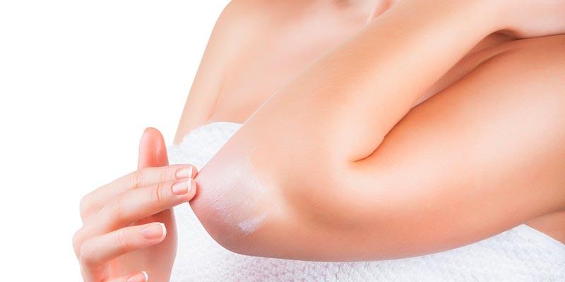 Причины и лечение шелушения кожи на локтях
