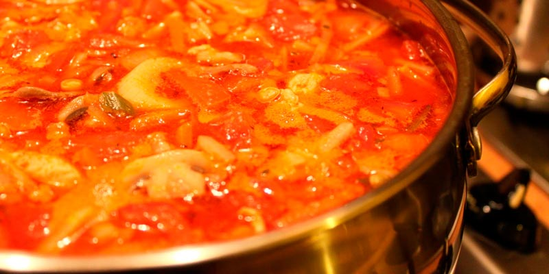 Рецепт лечо с луком, помидорами, морковью и перцем
