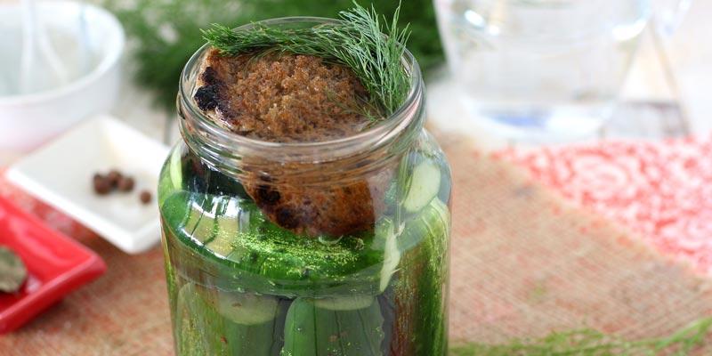 Как солить огурцы на зиму с добавлением ржаного хлеба
