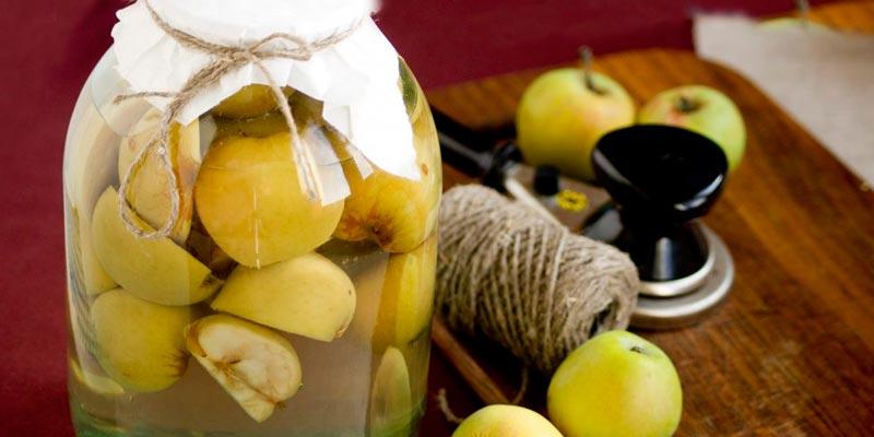 компот из свежих яблок