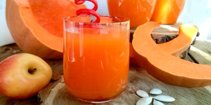 Как приготовить тыквенный сок с яблоком на зиму