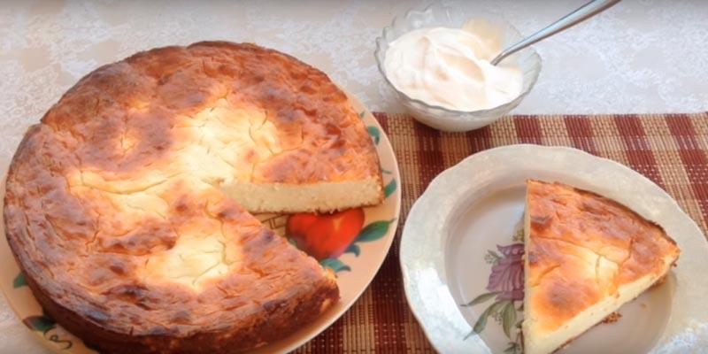 Рецепт творожной запеканки с мукой в духовке