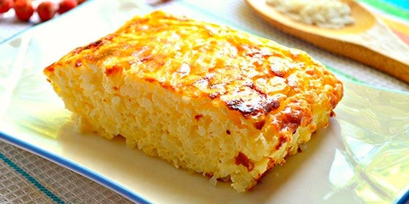 Способ приготовления творожно-рисовой запеканки