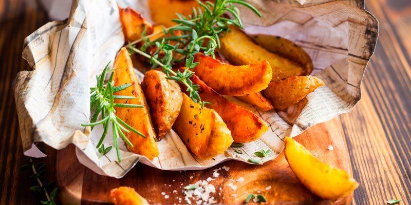 Пошаговый рецепт картошки по-деревенски в духовке