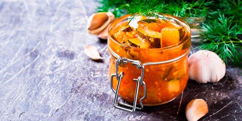 Рецепт салата из кабачков «Тёщин язык» на зиму
