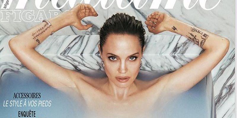 Мнимая нагота Анджелины Джоли для обложки журнала Madame Figaro